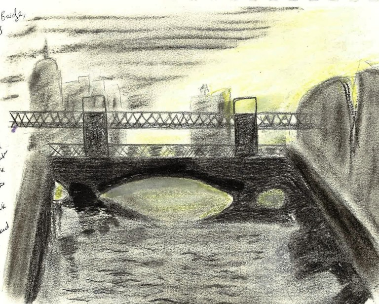 Butt Bridge over the Liffey in Dublin