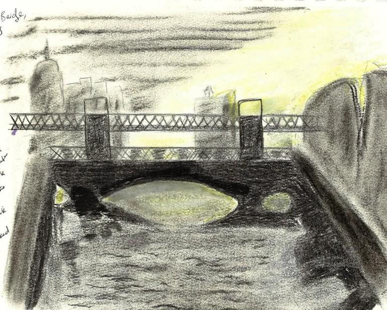 Butt Bridge over the Liffey in Dublin