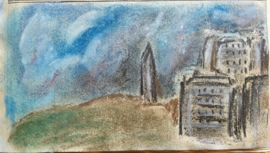 Landscape in chalk
