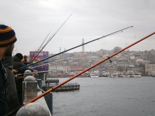 Fisherman on the Galata Bridge