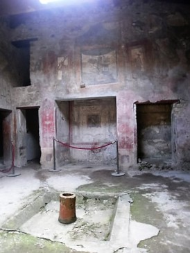 Fresco art remains in Pompeii