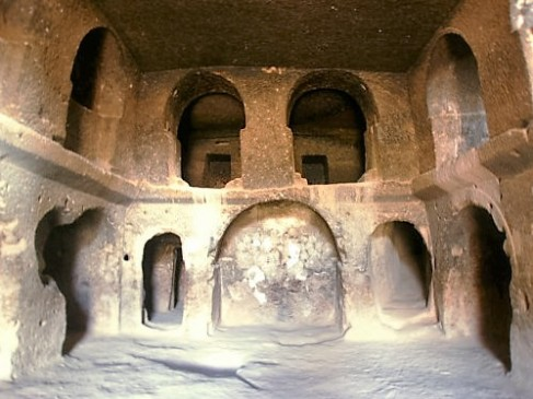 Inside a cave dwelling