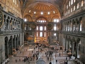 Inside the Hagia Sophia, Istanbul