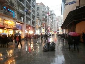 Istiklal Caddesi in the rain