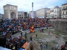 Lecce Amphitheatre in action