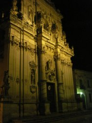 Lecce Cathedral at night