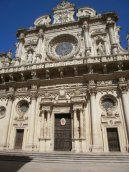 Lecce cathedral close up