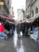 Markets in the rain, Istanbul