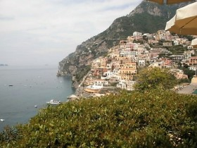 Positano from afar