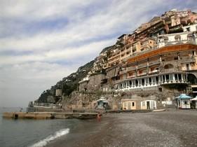 Positano from the beach