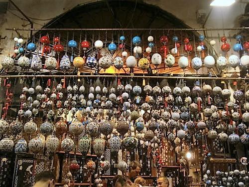The colourful Grand Bazaar