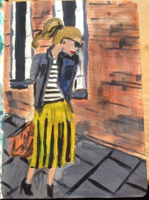 Girl in the street