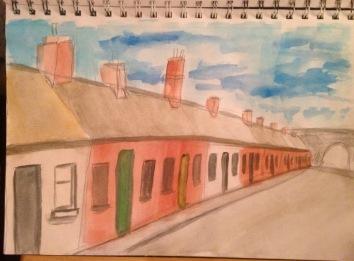 Terraced street in Dublin