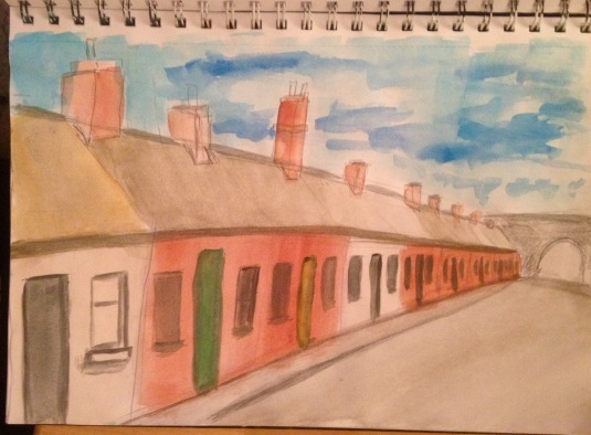 Terraced street in Dublin