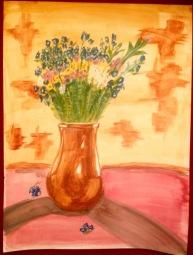 Wildflowers in vase