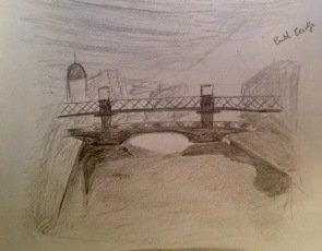 Pencil drawing of Butt Bridge