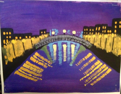 Ha'penny Bridge in Acrylics