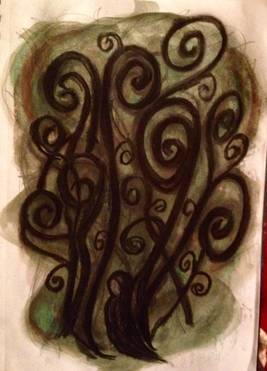 Swirly forest