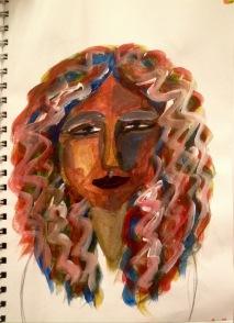 Portrait in acrylics
