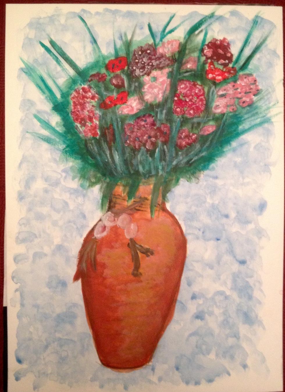 Sweet William's in vase