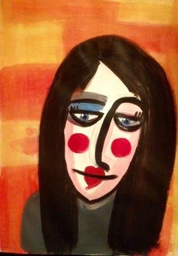 Rosy Cheeks in acrylics
