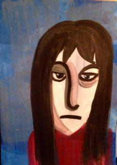 Sad Girl in acrylics