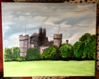 Malaise Castle, acrylics on canvas