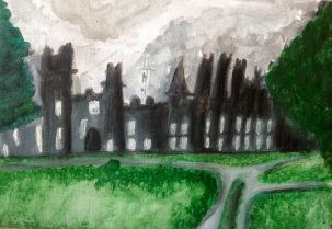 Stormclouds over Tullynally Castle