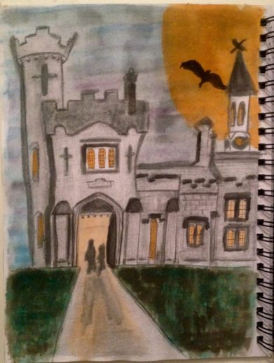 Entrance to Tullynally Castle at Hallowe'en
