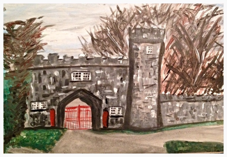Gatehouse at Tullynally Castle in Acrylics