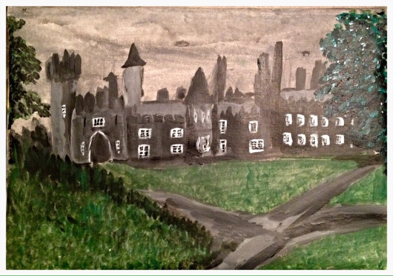 Tullynally Castle in Acrylics