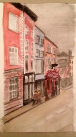 Capel St., Dublin, in Watercolour