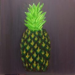 Pineapple in acrylics