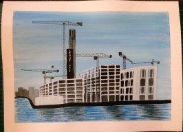 Dublin's new Capital Dock painted in inks