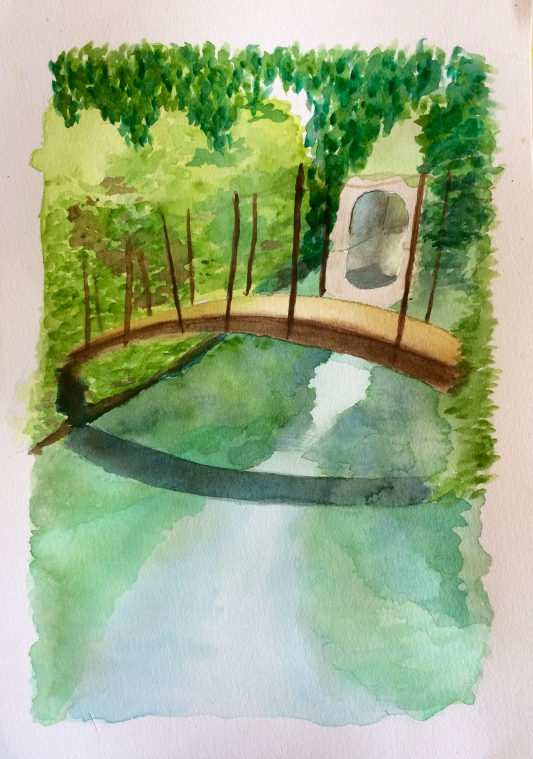 watercolour-bridge-over-stream-marley-park-dublin